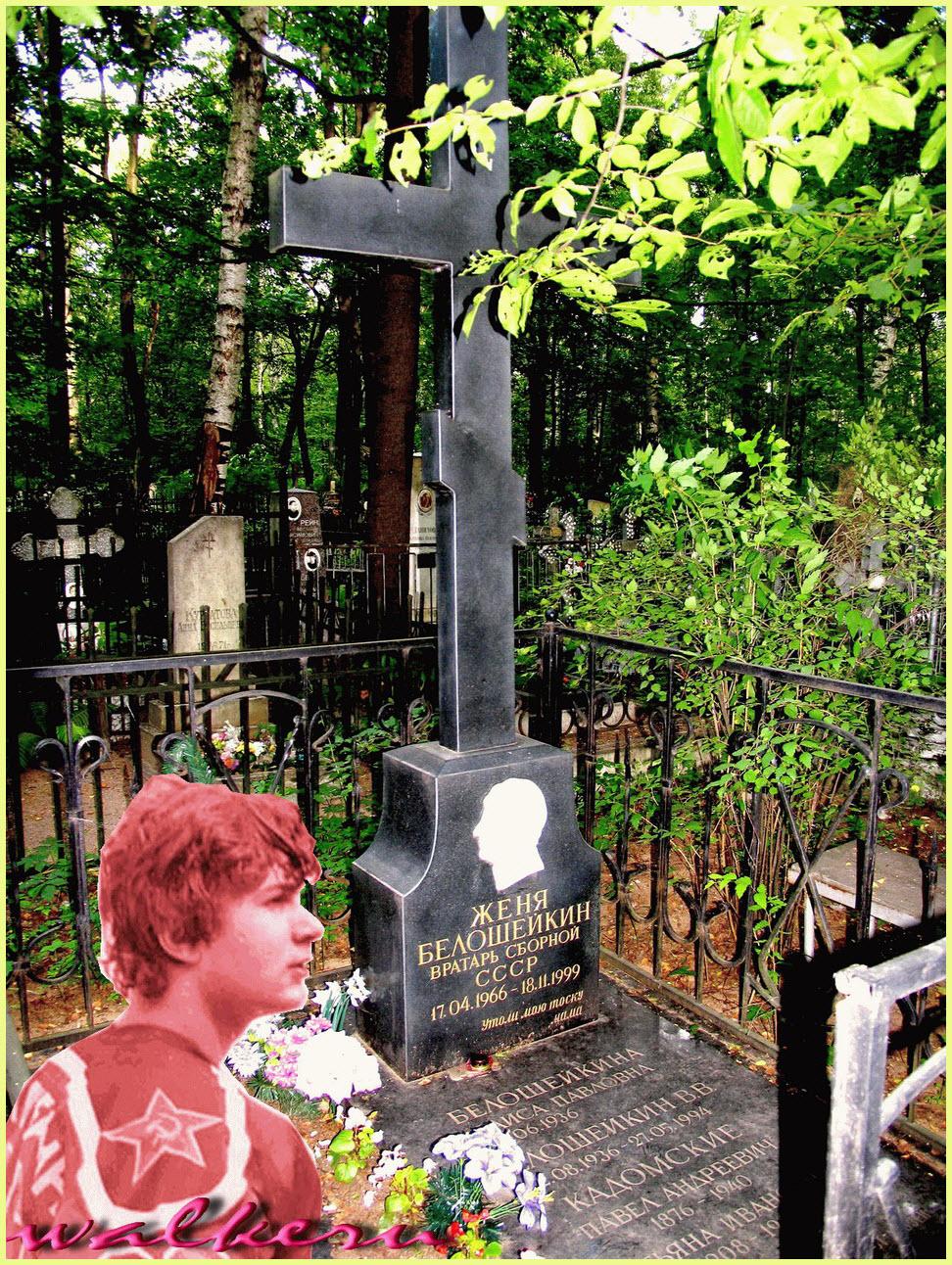 Могила Белошейкин Е.В. на Богословском кладбище