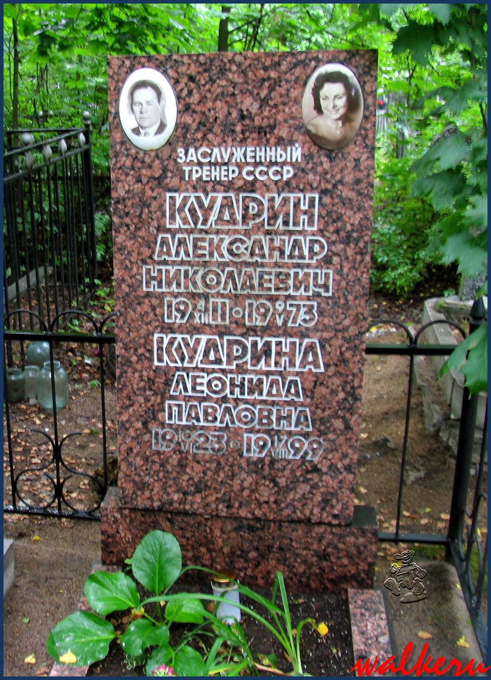 Могила Кудрина А.Н. на Богословском кладбище