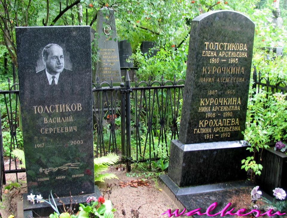 Могила ТОЛСТИКОВА В.С. на Богословском кладбище