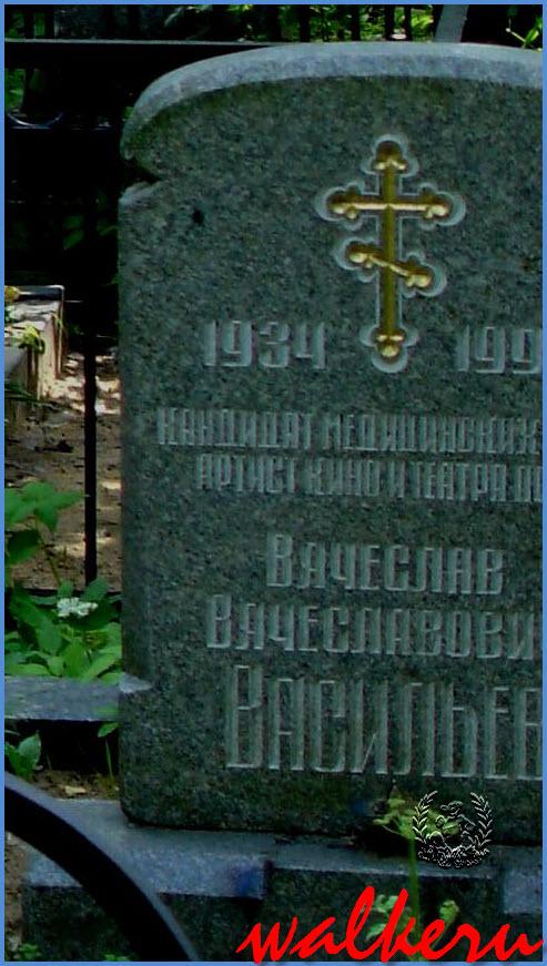 Могила Васильева В.В. на Богословском кладбище