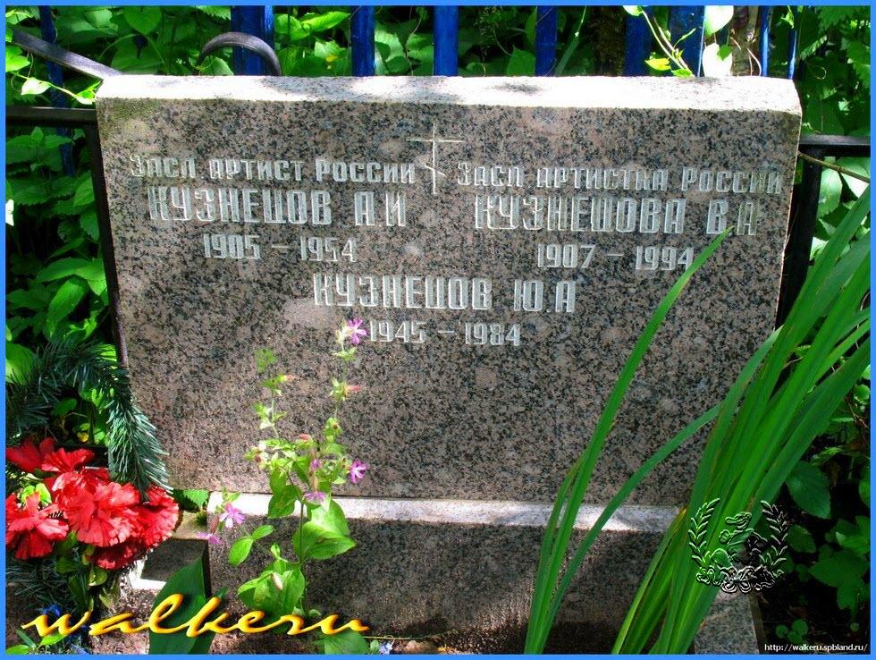 Могила актёрской семьи Кузнецовых на Большеохтинском кладбище