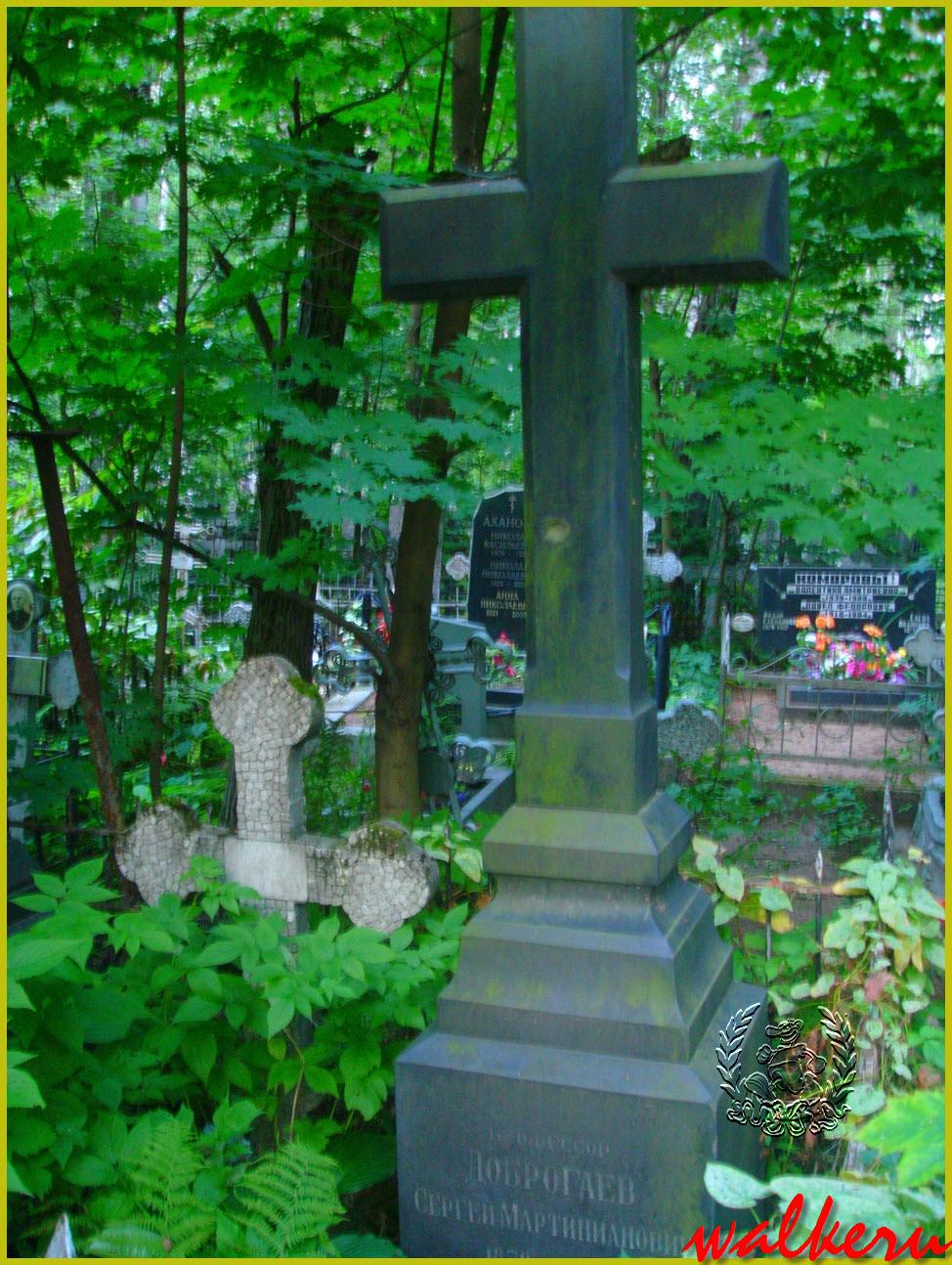 Могила Доброгаева С.М. на Большеохтинском кладбище