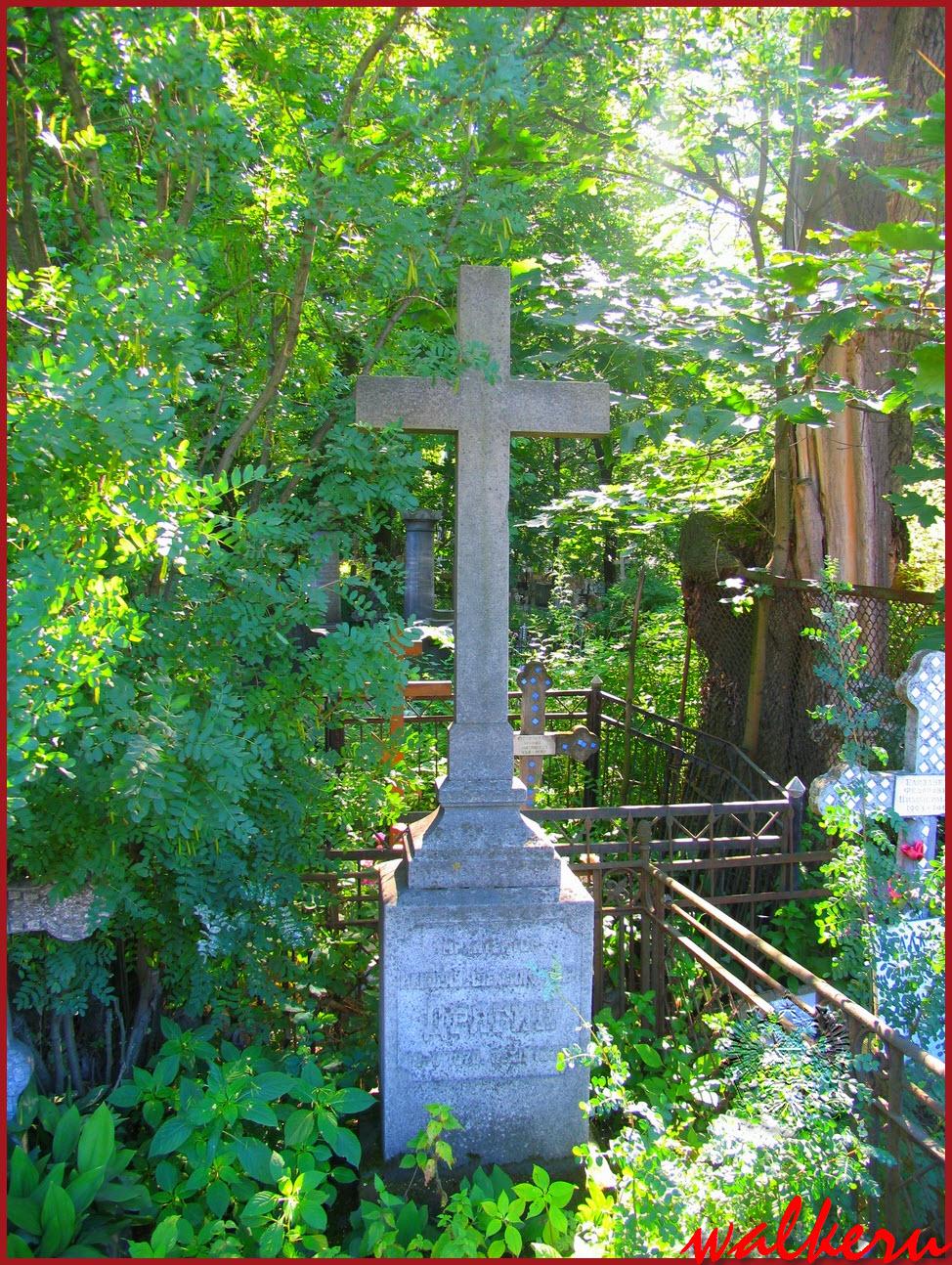Могила Дрягина Н.А. на Большеохтинском кладбище