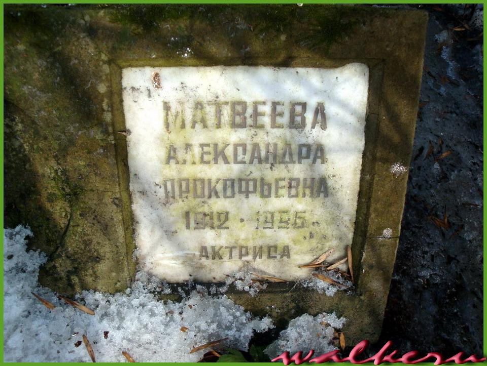 Могила Матвеевой А.П. на Большеохтинском кладбище