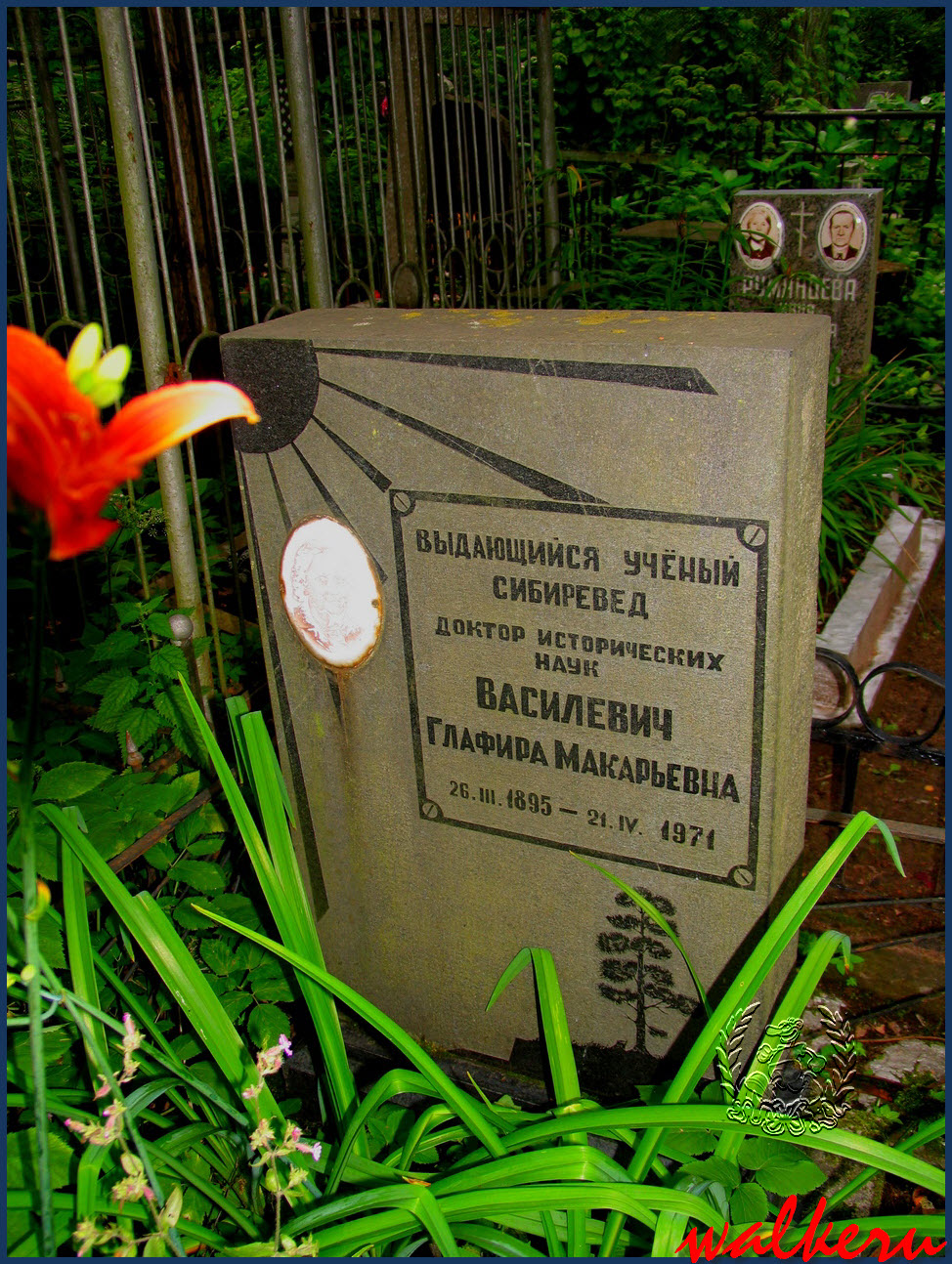 Могила Василевич Г.М. на Большеохтинском кладбище