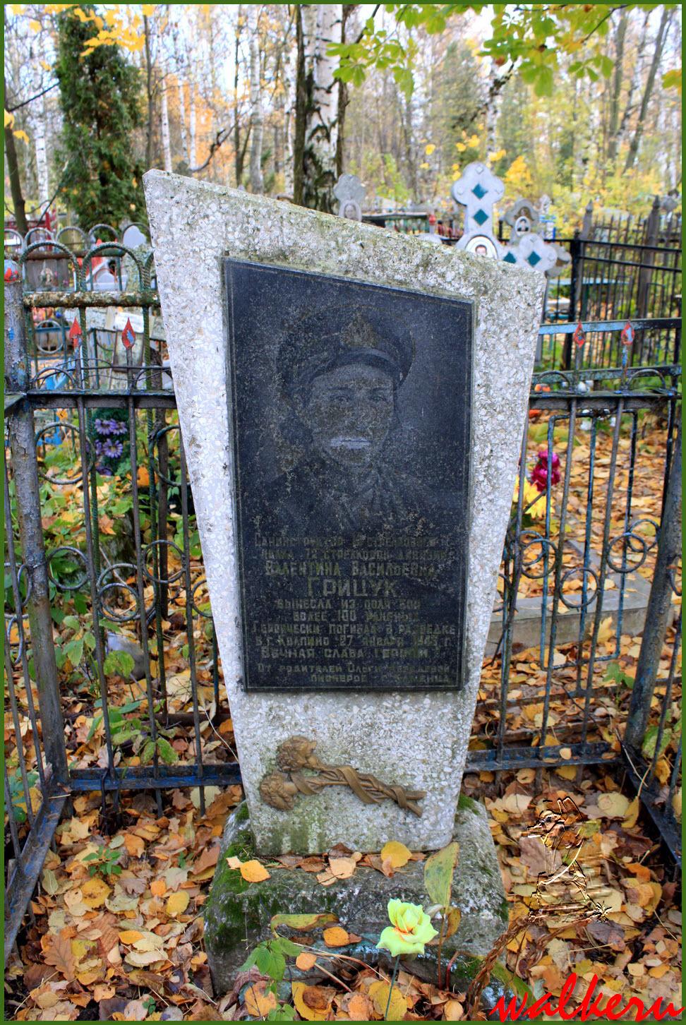 Кенотаф Грицук В.В. на Колпинском кладбище