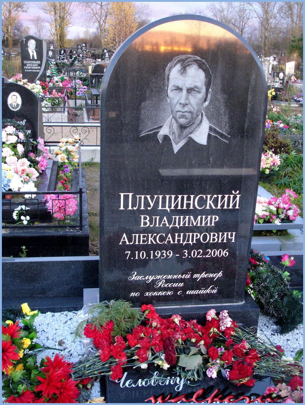 Могила Плуцинского В.А. на Колпинском кладбище