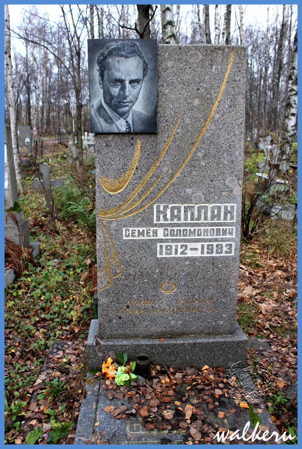 Могила Каплан С.С. на Киновиевское кладбище