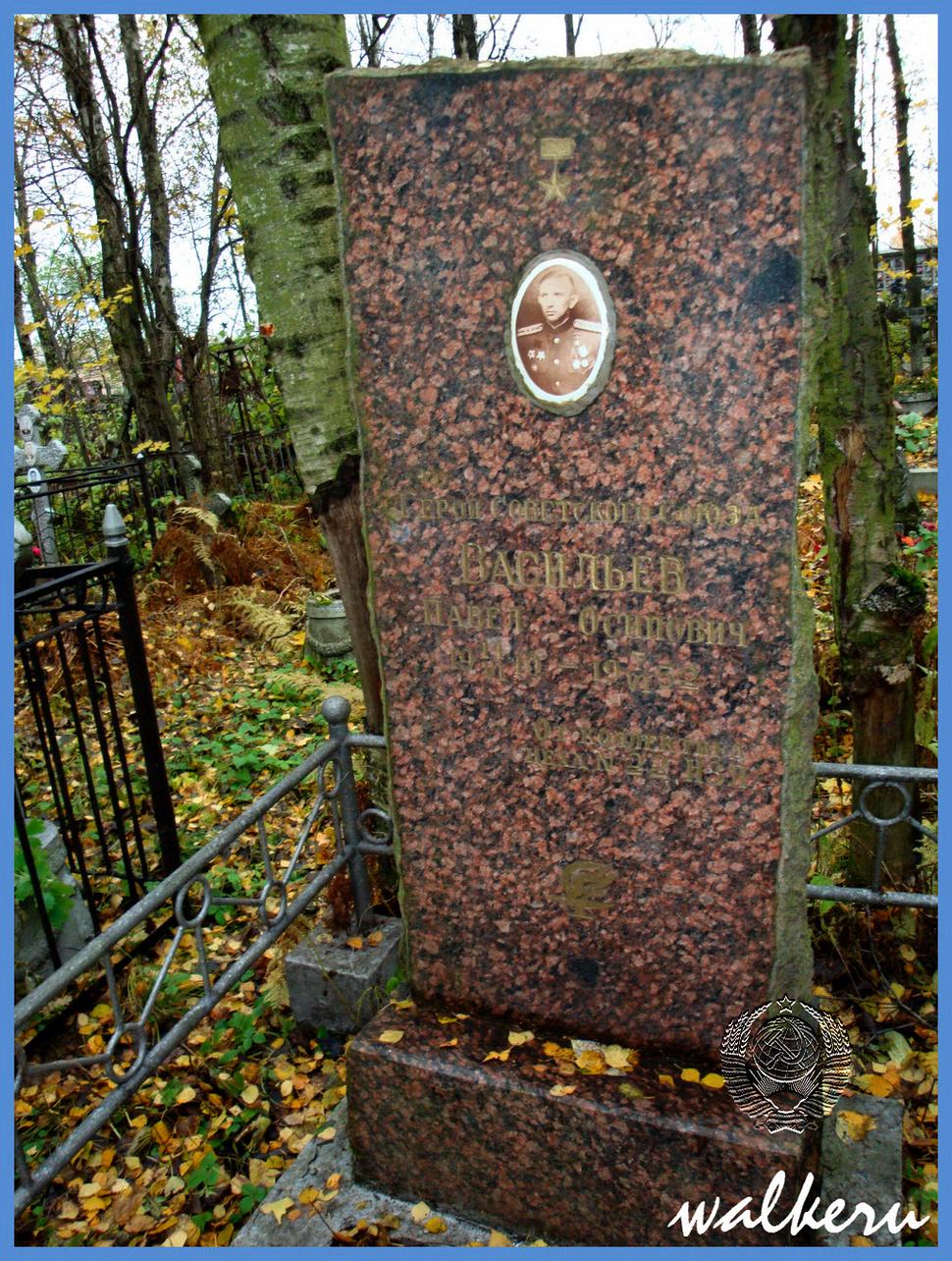 Могила Васильева П.О. на Киновиевское кладбище