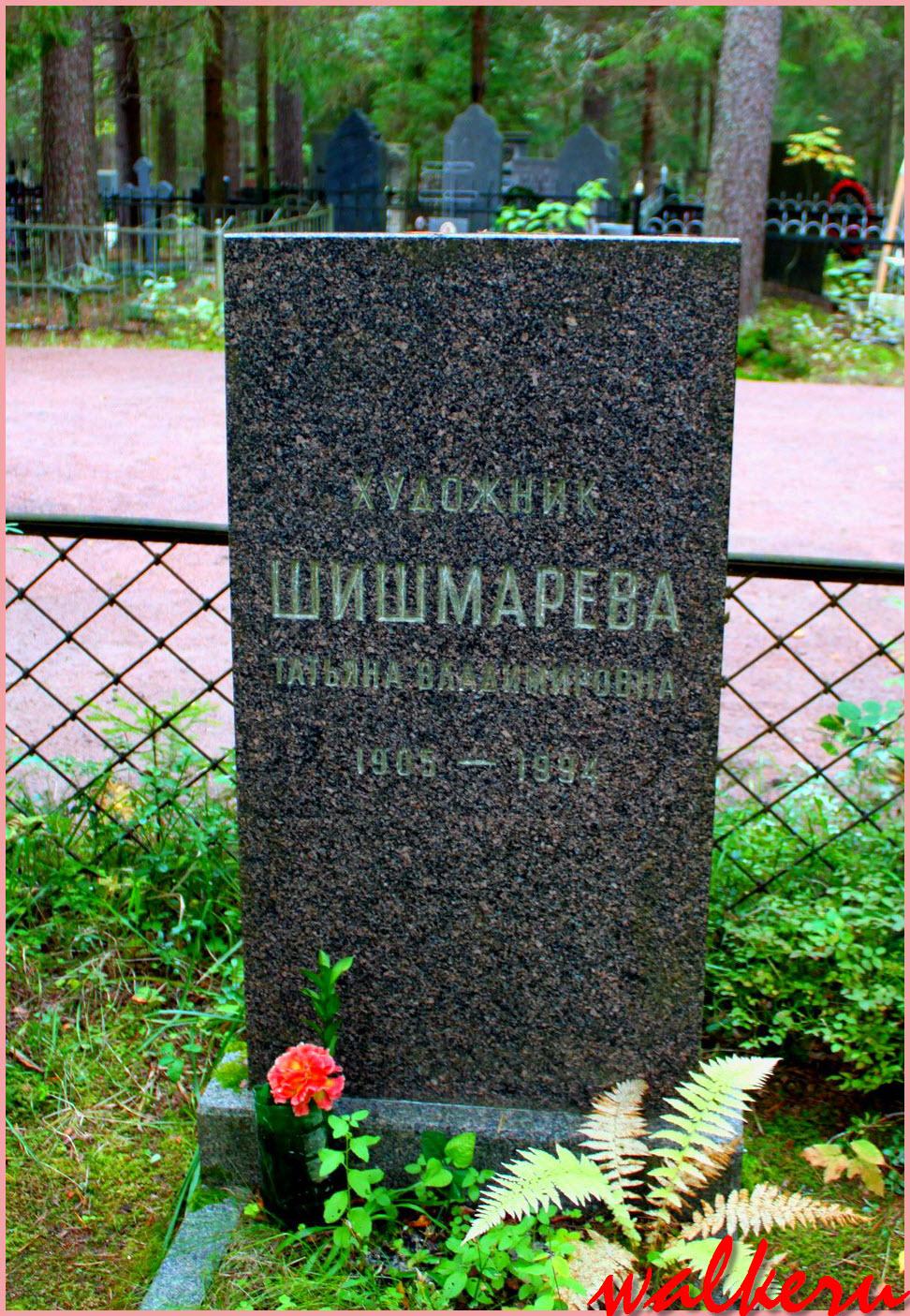 Могила Шишмарёвой Т.В. на Комаровским кладбище