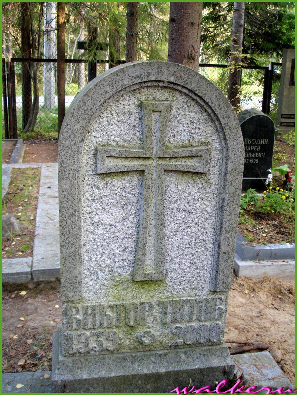 Могила Титова В.А. на Комаровском кладбище
