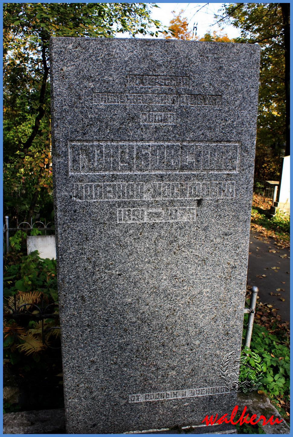 Могила Голубовской Н.И. на Ново-Волковском кладбище