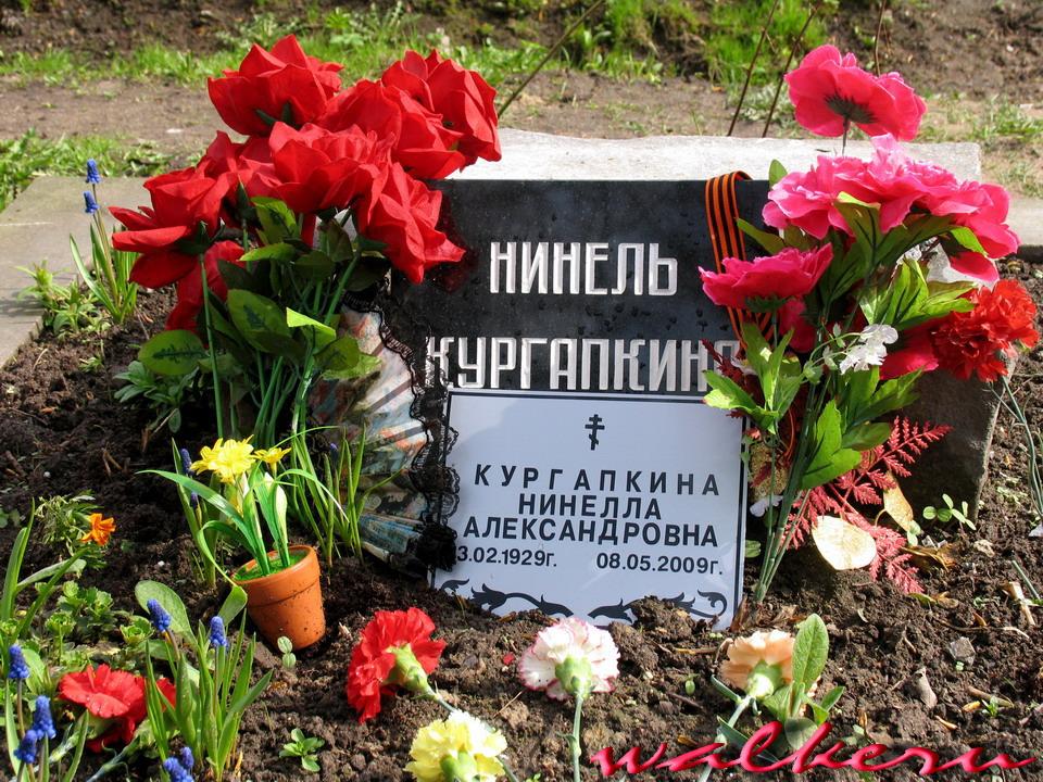 Могила Кургапкиной Н.А. на Ново-Волковском кладбище