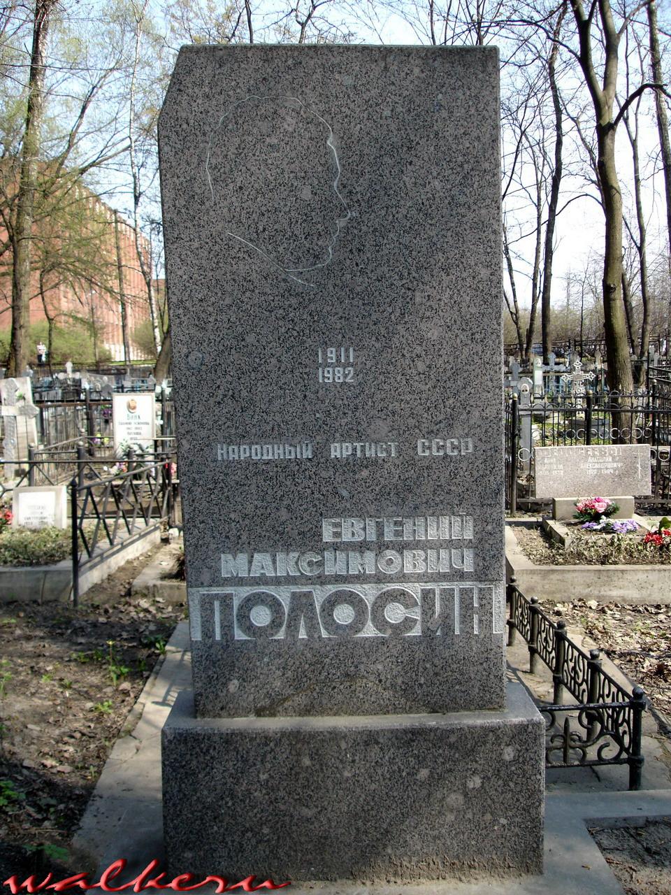 Могила ПОЛОСИНА Е.М. на Ново-Волковском кладбище