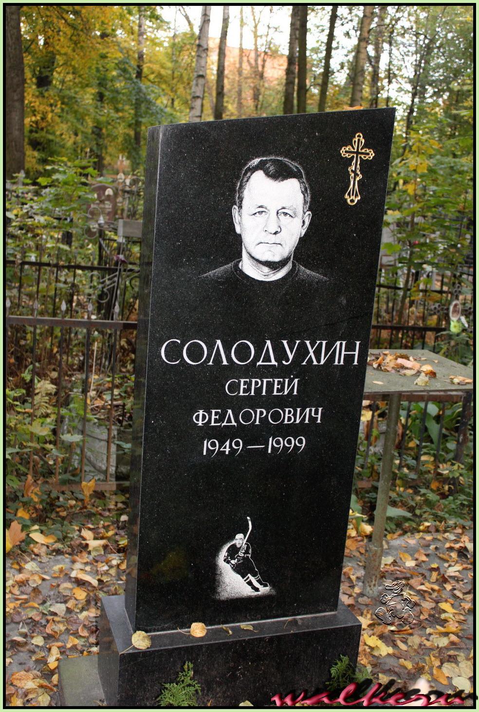 Могила Солодухина С.Ф. на Ново-Волковском кладбище