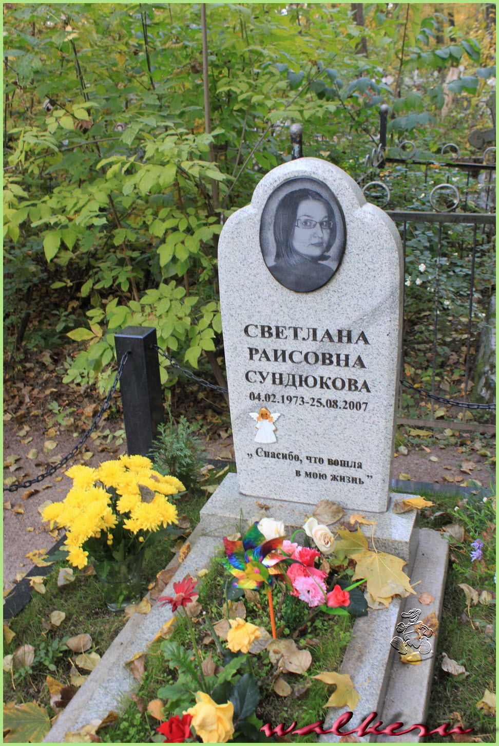 Могила Сундюкова С.Р. на Ново-Волковском кладбище