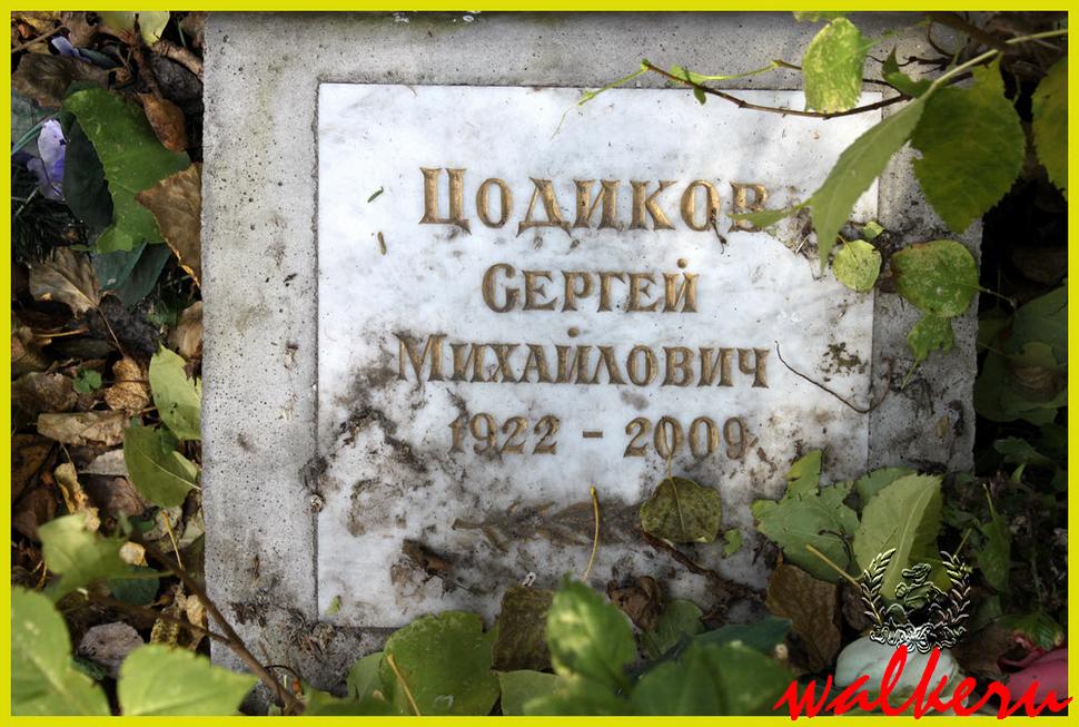 Могила Цодикова С.М. на Ново-Волковском кладбище