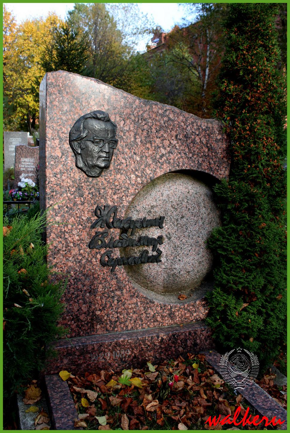 Могила Жекулина В.С. на Ново-Волковском кладбище