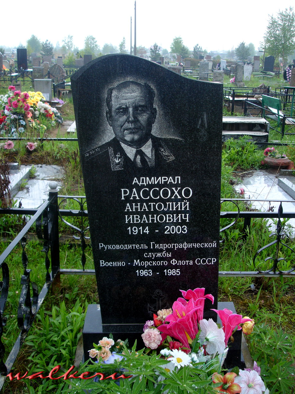 Могила Рассохо А.И. на Петергофском кладбище