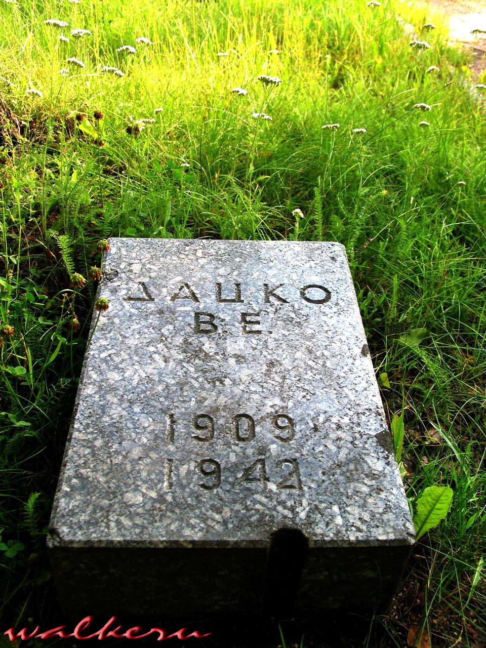 Кенотаф ДАЦКО В.Е. на Пискарёвском кладбище