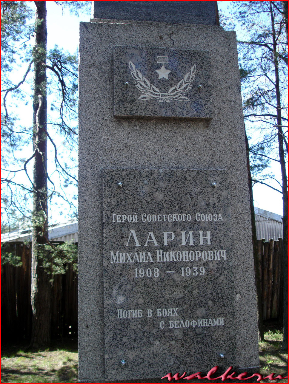 Могила Ларина М.Н. в Сертолово