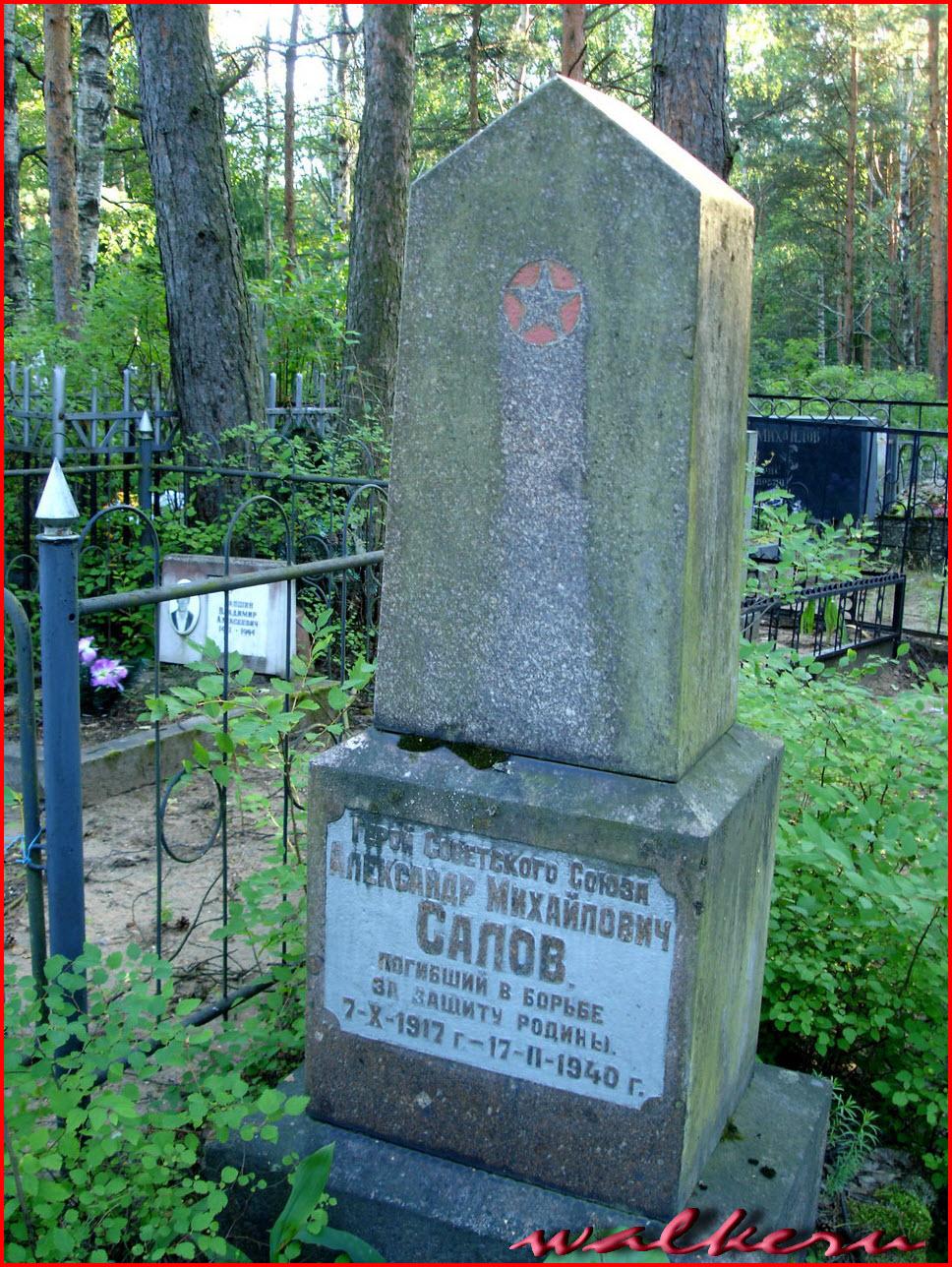 Могила Салова А.М. на Сестрорецком кладбище