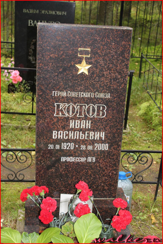 Могила Котов И.В. на Комаровском кладбище