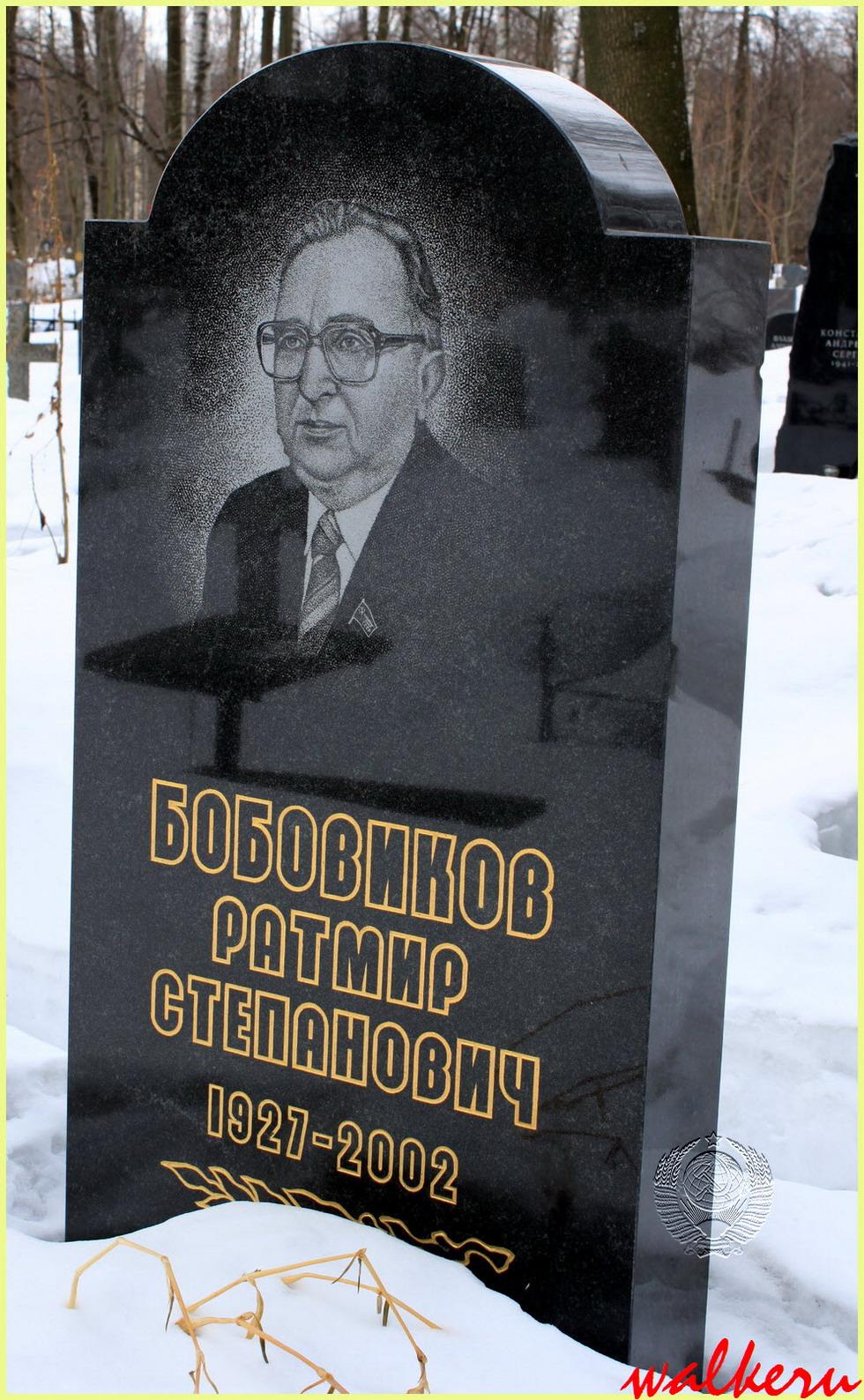 Могила Бобовикова Р.С. на Смоленском кладбище