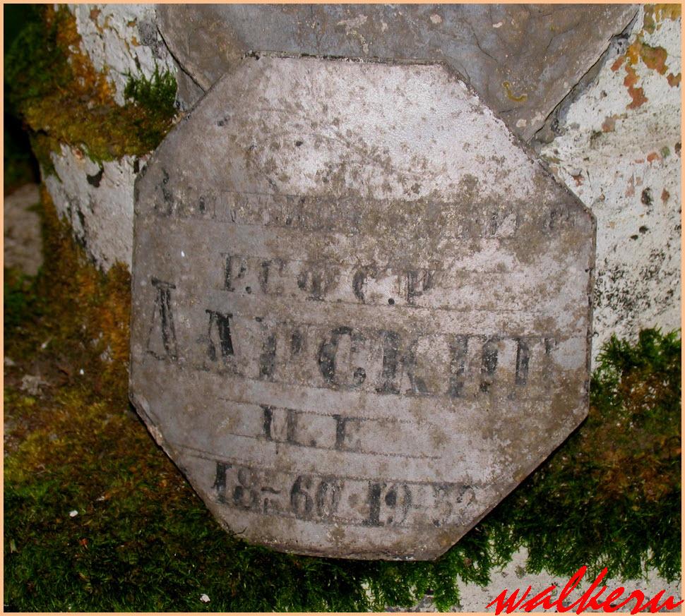 Могила Дарского М.Е.на Смоленском кладбище