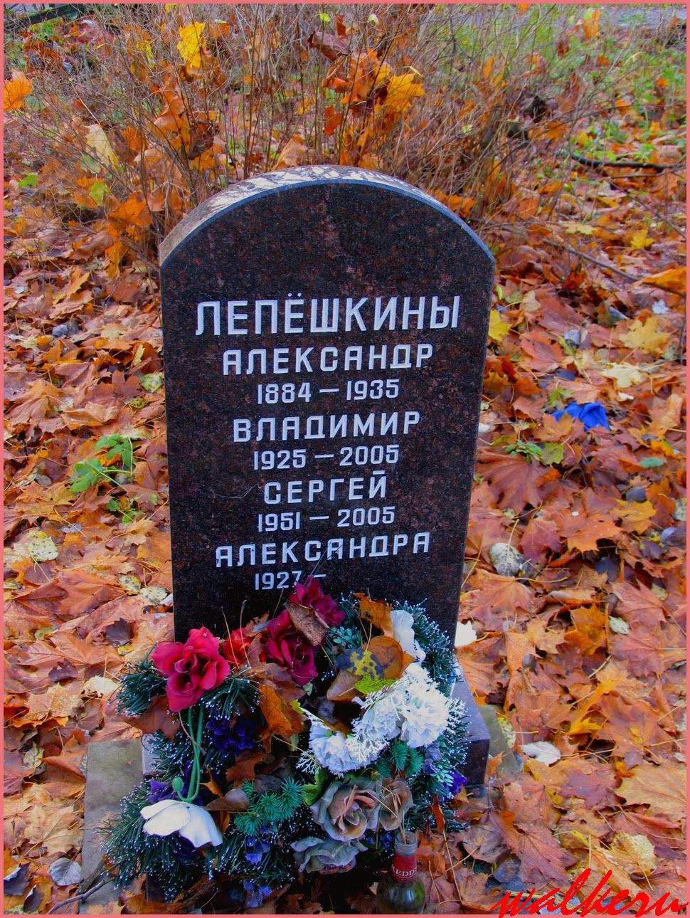 Могила Лепёшкиных на Смоленском кладбище