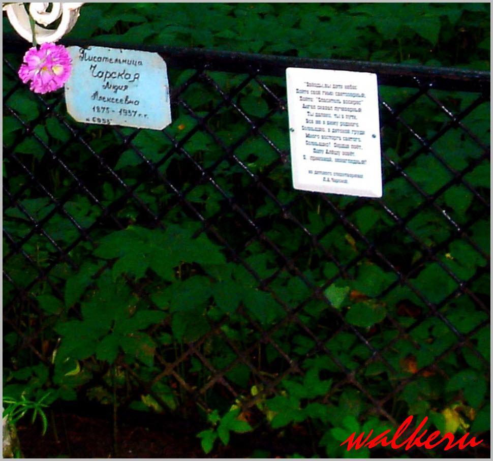 Кенотаф Чарской Л.А. на Смоленском кладбище