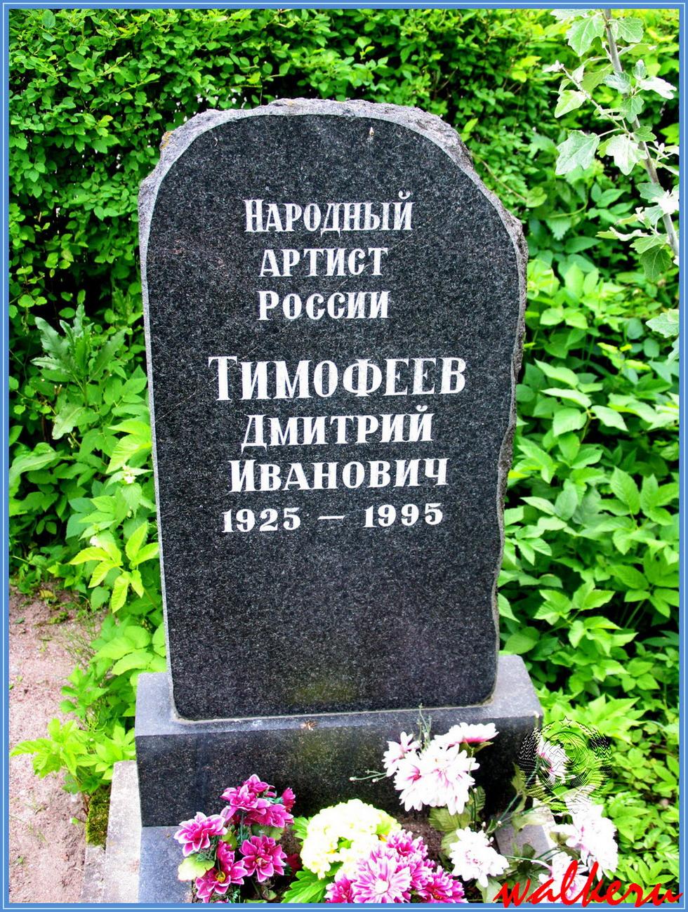 Могила Тимофеева Д.И. на Смоленском кладбище