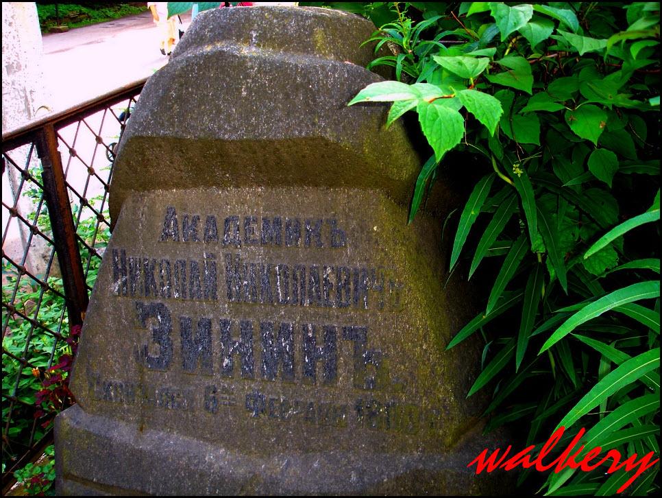 Могила Зинина Н.Н. на Смоленском кладбище