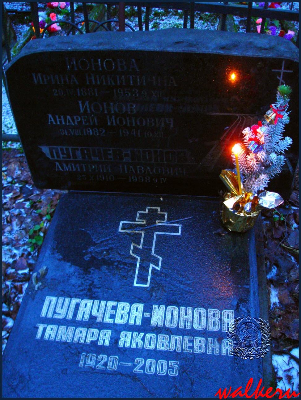 Могила Ионова Д.П. на Серафимовском кладбище