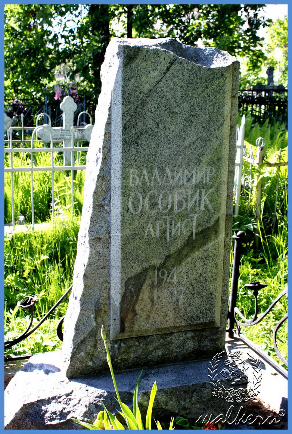 Могила Особик В.В. на Серафимовском кладбище