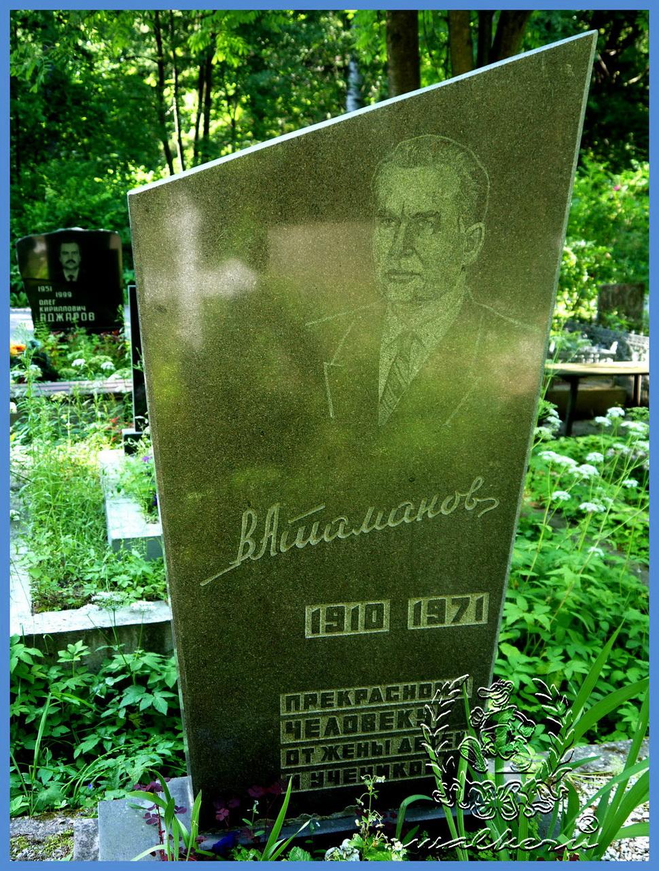 Могила Атаманова В.В. на Северном кладбище