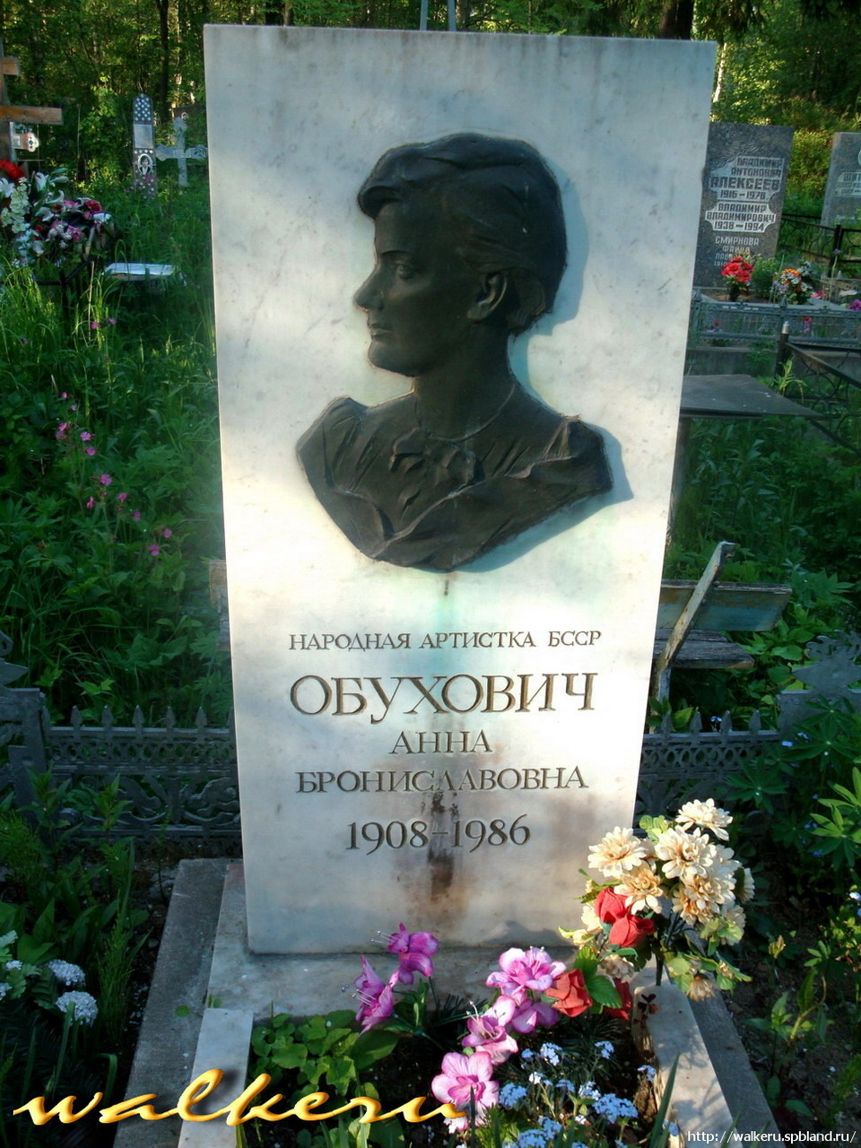 Могила ОБУХОВИЧ А.Б. на Северном кладбище