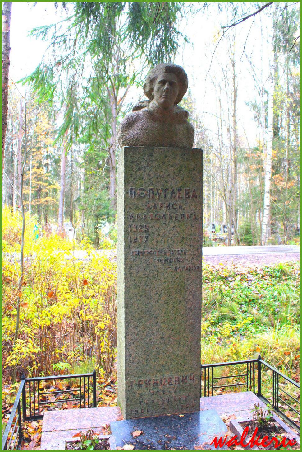 Могила Попугаевой Л.А. на Северном кладбище